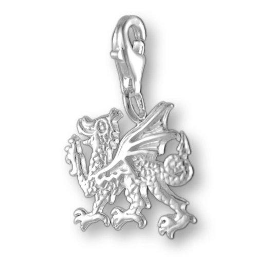 Melina Damen-Charm Anhänger fliegender Drache 925 Sterling Silber 1800392 Drache Charm Bead