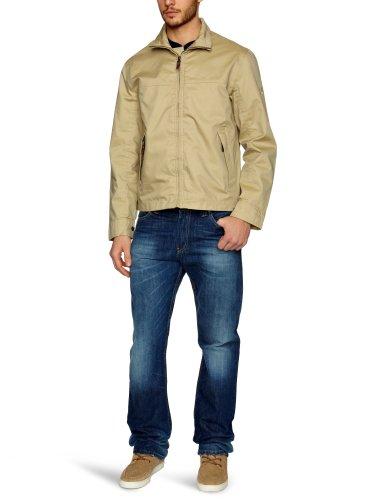 Timberland Clothing Herren Regenjacke , Kapuze Braun - Sand