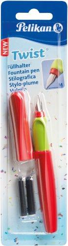 Pelikan 923581 Twist Füllhalter (Universell für Rechts- und Linkshände) Rot