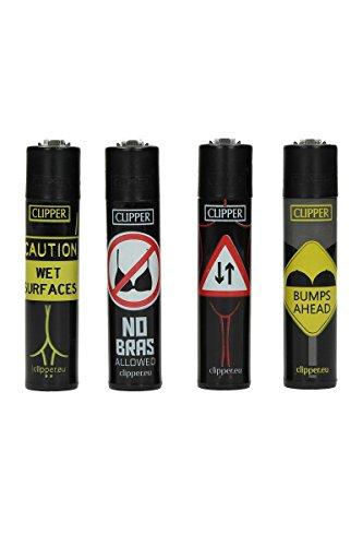 Clipper Classic - Babe Signs - Feuerzeug - 5 Stück verschiedene Designs (Design Babe)