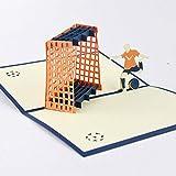 BC Worldwide Ltd fatto a mano 3D pop up compleanno card calcio porta cancello ragazzo calcio anniversario di matrimonio San Valentino festa del papà figlio laurea iscrizione origami