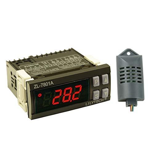 KKmoon Digitale Temperaturregler Intelligenter PID Temperatur Feuchtigkeitsregler mit automatischer Ei Inkubator Thermometer mit LCD Anzeige und zwei Sensoren 100V-240V AC ZL-7801A