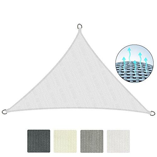 Sol Royal Tenda a Vela Traspirante 600x420x420 cm SolVision HS9 - Protezione Triangolare Parasole e Anti UV - Bianco