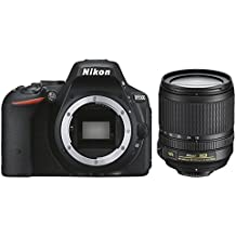 """Nikon D5500 - Cámara réflex digital de 24.2 Mp (pantalla 3.2"""", estabilizador óptico, vídeo Full HD), color negro - Kit cuerpo cámara con objetivo Nikkor 18-105mm f/3.5-5.6 ED VR (importado)"""
