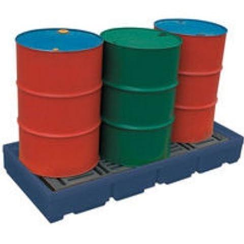 Pallet Sump Poly 2 Drum Capacity Blue 321622