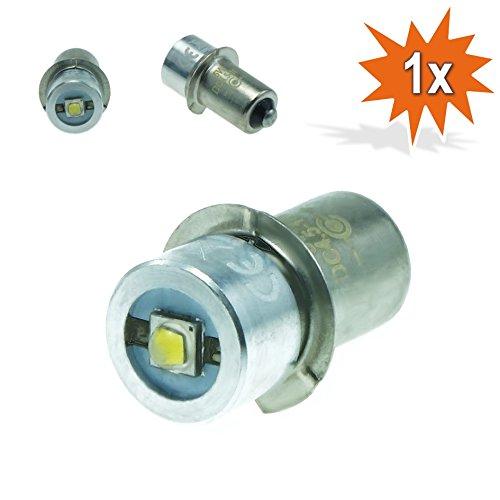 Do!LED P13.5s LED Cree Taschenlampe Lampe Weiss Birne 5 Watt bis zu 250 Lumen 4,5V - 10 Volt Gleichstrombetrieb DC Cree Led Serie