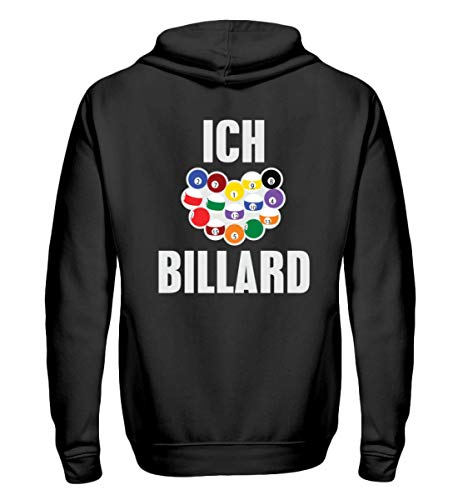 Chorchester Ich Liebe Billard - Zip-Hoodie