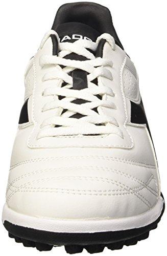 Diadora Brasil R Tf, Scarpe da Calcetto Uomo Bianco (Bianco/Nero)