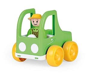 Lena 01573 My First Racers Pickup - Camión de Juguete con Figura móvil como Conductor, camión para Empujar y Ruedas, Juguete para bebés y niños pequeños a Partir de 12 m+, Color Verde