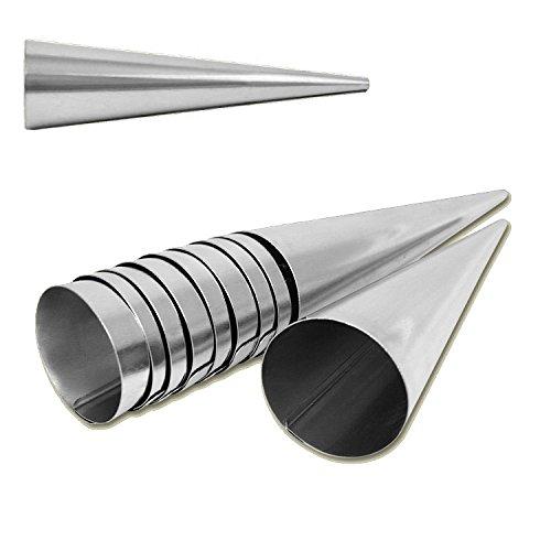 Para hacer barquillos para molde de 10er Set de ollas de acero inoxidable 140 mm x 35 mm Set de 10...