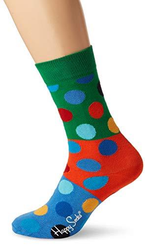 Happy Socks Unisex Big Dot Block Sock, Grün (Khaki 7000, 41-46 -
