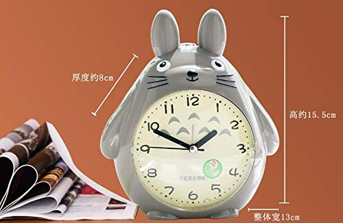 ZYJCC Wecker Totoro Cartoon New Digital Snooze Wecker Totoro Clock Einrichtung Miniaturen Clock Christmas Craft -