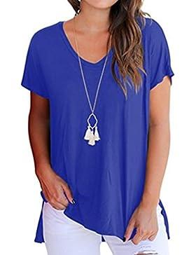 CICIYONER Camiseta de Manga Corta Para Mujer Camiseta Básica Sin Mangas Camisa de Camiseta Casual Lisa