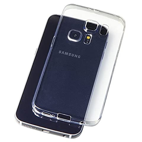 Samsung Galaxy S6 5,1 Zoll Schutz-Hülle Silikon TPU transparent ultra-slim Case Cover ultra-thin durchsichtig extra Kameraschutz Linsenschutz