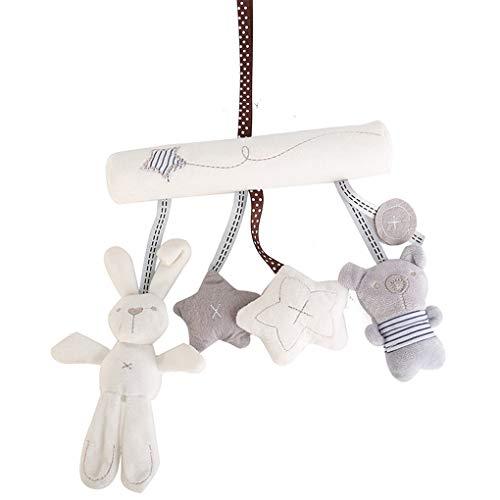 Coco Musik Rasseln Krippe Kinderwagen Baby-Kaninchen-Stern-Plüsch spielt Nettes Kind-Bett-hängende Puppe Lernspielzeug -