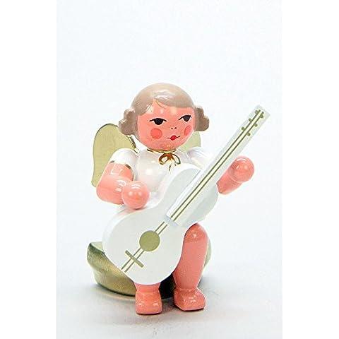 Musicante angelo bianco/oro seduto con chitarra–Christian Ulbricht Monti Metalliferi