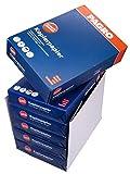 PAGRO Kopierpapier Druckerpapier Papier, DIN A4, 2500 Blatt, 80 g/m2, weiß