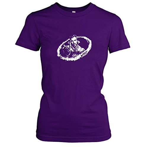 amen T-Shirt, Größe XL, violett (Dr Doom Kostüm Maske)