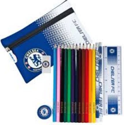 Licensed Ultimate Stationary Sets: Various Football Club/Team Designs (Pencil Case, Notepad, Ruler, Pencils, Rubber and more) Ideal for school