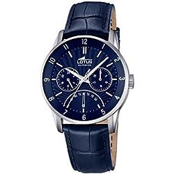 Lotus 18216/2 - Reloj de pulsera Hombre, Cuero, color Azul