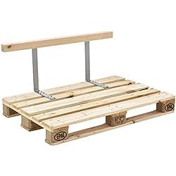 [en.casa] Respaldo para sofá- palé / para europalé - apariencia de madera maciza - muebles DIY