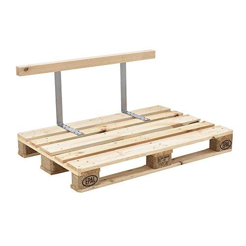 [en.casa] Respaldo para sofá- palé / para europalé - apariencia de madera...
