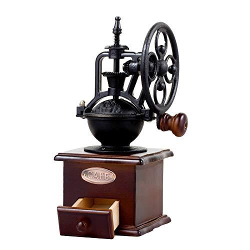 DecentGadget® Wooden Coffee Bean Spice Vintage Style Hand Grinder Coffee Mill Coffee Bean Machine With Ceramic Grinding Core (Manual grinder) Vintage Coffee Grinder