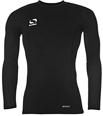 Sondico Herren Long Sleeve Base Layer rund Neck Top