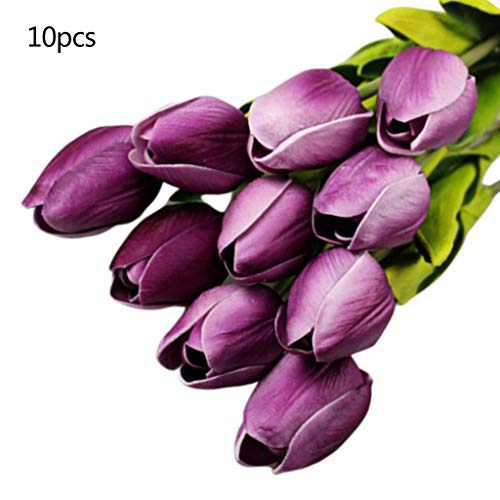 Ruda 10Pcs /Set Wedding Bouquets Artificial Tulip Flowers Bridal Braided Brautpaare Brooch Rosen Blume Brautpaar Brautpaar Brautpaare Artificial Bouquets Party Home Geschenke Ausstattung