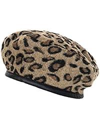 8eeb66df20f13 Cokk Leopard Beret Female Autumn Winter Hats for Women Vintage Painter Flat  Cap Boina Feminina Fashion