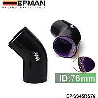 'epman Black 3strati di da 3tubo in silicone da 45gradi KR ¨ ¹ MMER accoppiatore Turbo Intake 76mm EP ss45rs76