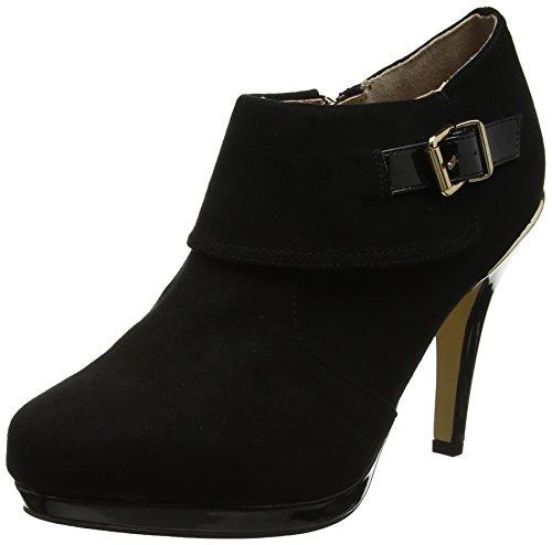 Lotus Women's Vollmer Closed-Toe Heels, Black (Black Micro/Shiny), 4 UK 37 EU