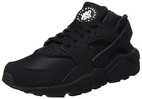Nike Air Huarache, Herren Sneakers, Schwarz (Black/Black-White), 46 EU
