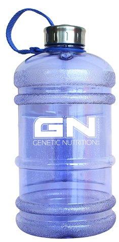 GN Waterbottle 2,2L Water Jug Gym Bottle Water Bottle Wasserflasche Trinkflasche Gallon Fitness Sport (Blau)
