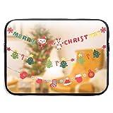 Custodia per laptop Custodia per ciondolo di Natale Borsa per notebook Borsa per laptop Borsa a tracolla protettiva da 15 pollici