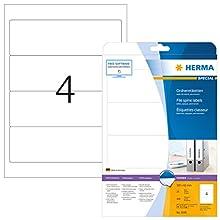 HERMA 5095 File labels A4 192x61 mm white paper matt opaque 100 pcs.