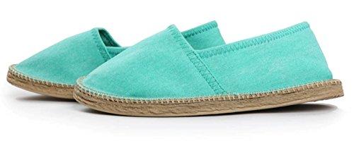 City Walk Damen Espadrilles Slipper Sommer Schuhe Hausschuhe Strandschuhe mint (40) fällt sehr klein aus