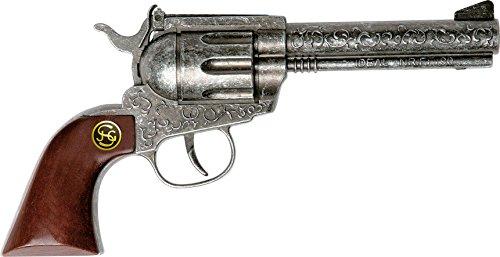 J.G. Schrödel 4060109 - Marshall antik, 22 cm, 100 Schuss Pistole mit Holzgriff, auf Tester (Jahrzehnte Kostüme Für Kinder)