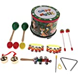 13pcs 8 Kinds Wooden Percussion Instruments For Kids Preschool Education Musical Toy