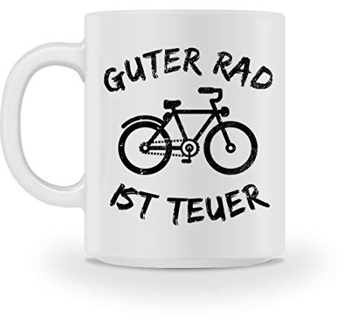 Guter Rad Ist Teuer T-Shirt Fahrrad Mountainbike Fixie Radfahrer Fahrradliebhaber Geschenk - Tasse -M-Weiß