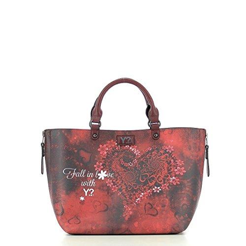 Y NOT? Damen K-40 Tote-Bag, 43 x 28 x 18 cm WINE