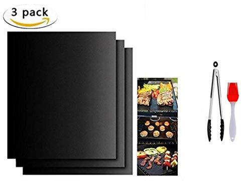 cxz BBQ-Pad zum Grillen und Backen der Antihaftpfanne, kann unbegrenzt verwendet Werden, 100% Antihaftbeschichtung, geeignet für Holzkohlegrill, Gasgrill, elektronischen Grill und Ofen 40x33cm (3)