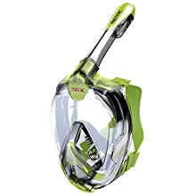 SEAC Unisex-Children Magica Junior, Full Face Snorkeling Mask 6+, Tested and Patented, Green, 6+