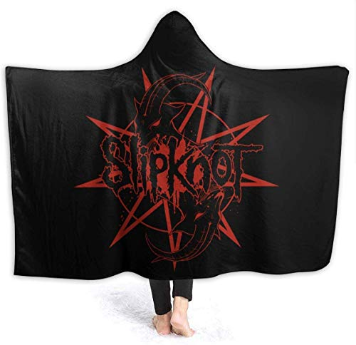 NR Slipknot Blanket Hooded, Flanell Blanket Sofa/Bettwäsche Komfortable und warme Decke50 x40