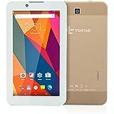 YUNTAB E706 7 Pouces 3G Tablet Téléphone 1G RAM 8G RAM 1024x600 IPS Écran Quad Core CPU GPS Android 5.1 2G/3G GSM WCDMA Phone PC WIFI Bluetooth 4.0,Coque fabriqué par métal-Or