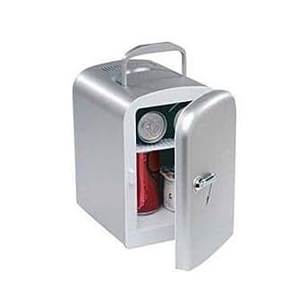 4 litre silver mini travel fridge mini k hlschrank 12v 230v mit warmhalte funktion. Black Bedroom Furniture Sets. Home Design Ideas