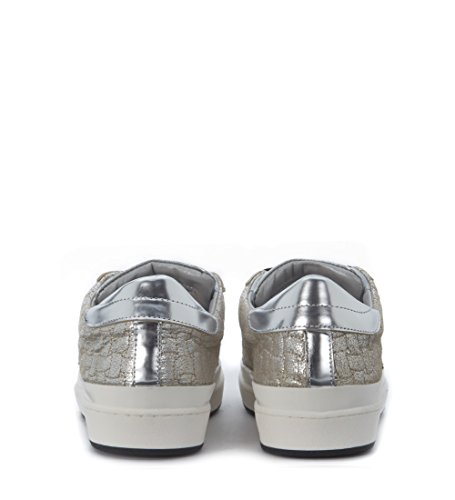 Sneaker Philippe Model Classic Lakers in pelle laminata argento Argento
