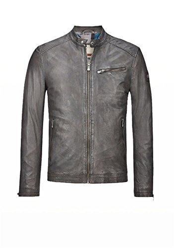 MILESTONE - Blouson - Veste en cuir - Homme Gris