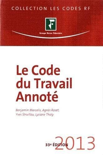 Le Code du travail annot 2013