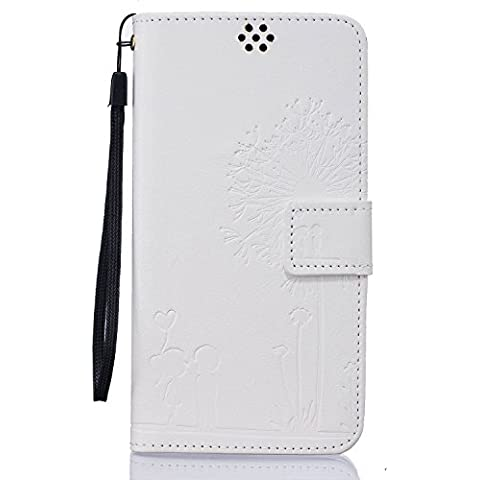 Beiuns Funda de PU piel para Xiaomi Redmi Note 3 / Note 3 Pro (5,5 pulgadas) Carcasa - TX528 Blanco